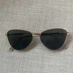 Le Specs Echo Matte Gold Sunglasses